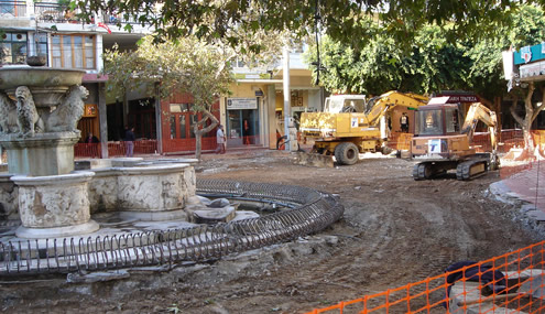 Paving of the south part of 25th Augoustou Str. - 2006